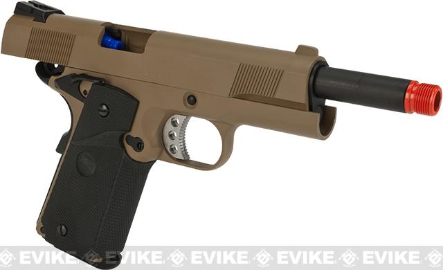 Pre-Order ETA April 2017 WE-USA NG3 Full Metal 1911 MEU Standard Heavy Weight Airsoft Gas Blowback Pistol - Dark Earth