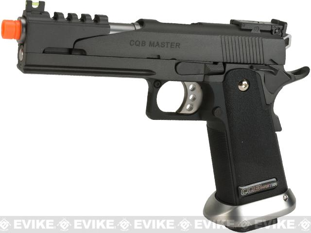 Phantom Custom WE USA CQB Master Alpha Airsoft GBB Gas Blowback Pistol w/ Two Mags - (Package: Add Red Dot Optic)