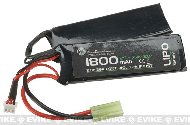 WE-Tech 7.4V 20C 1800mAh LiPo Battery - Butterfly Type