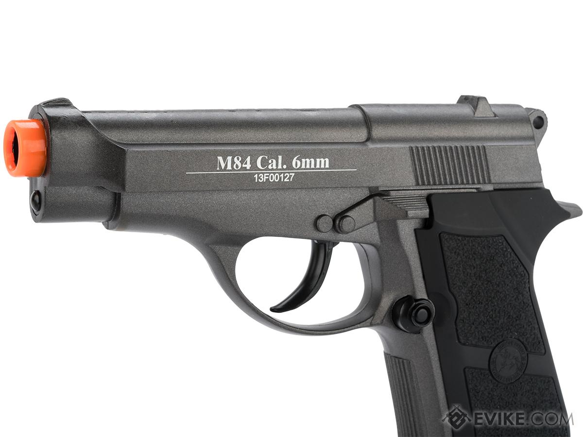 WG Full Metal M84 Compact Airsoft Co2 Powered Airsoft Gas Pistol - Black