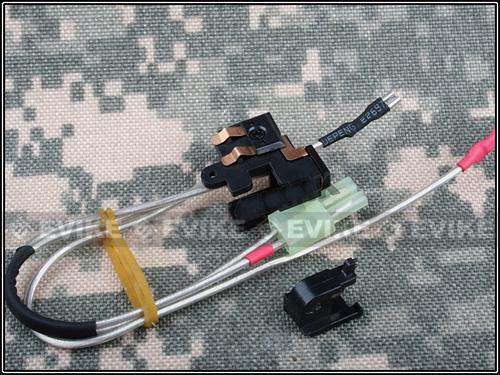 Matrix Large Capacity Low Resistance Wire & Switch Assembly. For Version II. (Back)(M4/M16/MP5/G3)