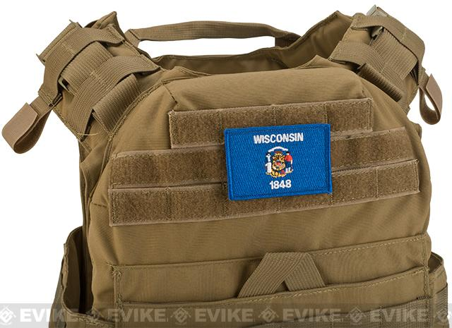 Evike.com Tactical Embroidered Wisconsin Flag The Badger State Patch