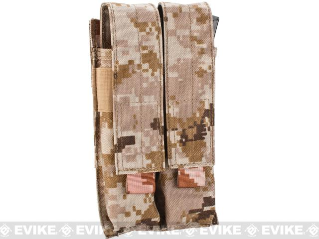 Matrix Airsoft SMG Double Magazine MOLLE Pouch - Digital Desert