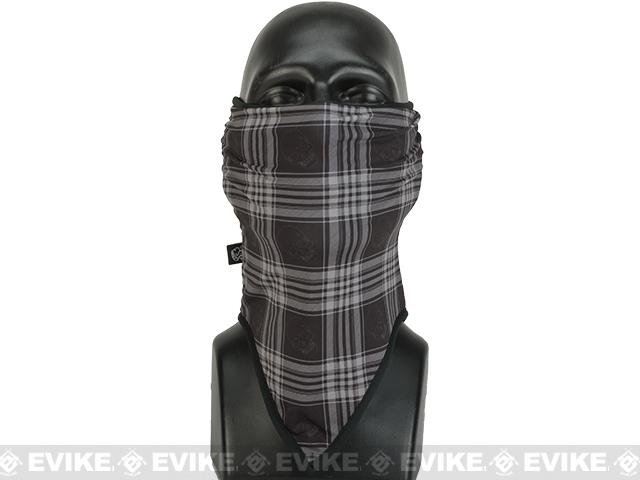 Bobster / Zan Headgear Cozy Fleece Combat Lower Face / Neck Gaiter - Skull Plaid
