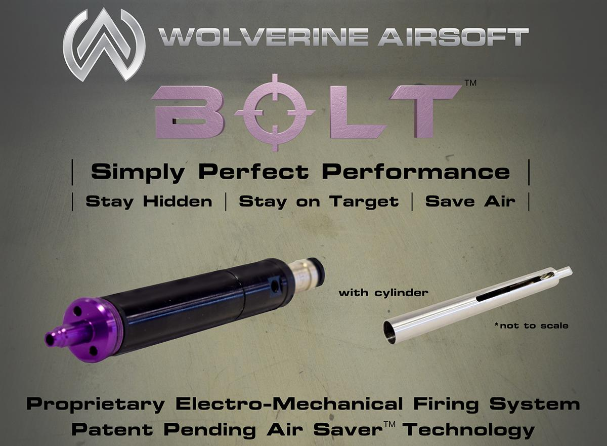 Pre-Order ETA November 2016 Wolverine Airsoft  BOLT HPA Conversion Kit for VSR-10 System Airsoft Sniper Rifles - With Cylinder