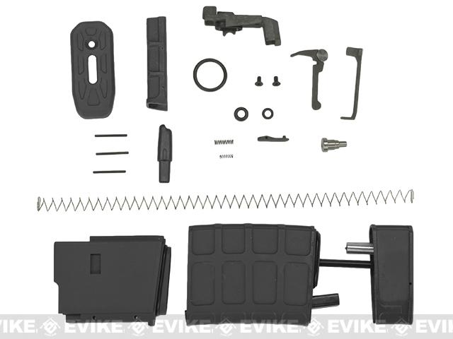 G&P PTS 39rd Magazine Kit for G&P King Arms WA M4 Airsoft GBB Blowback Rifles - Black (Box of 5)