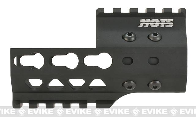 G&P MOTS 4 Keymod Cutout Rail System for G&P M4 / M16 Series Gas Blowback Airsoft Rifles - Black
