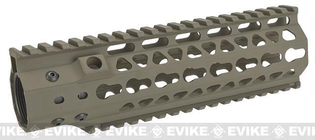 G&P MOTS 8 Keymod Rail System for G&P M4 / M16 Series Gas Blowback Airsoft Rifles - Sand