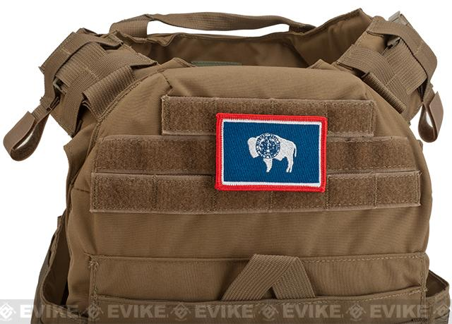 Evike.com Tactical Embroidered Wyoming Flag The Equality or Cowboy State Patch