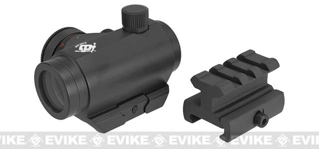 Evike.com T1 Micro Reflex Red & Green Dot Sight with Riser - Black