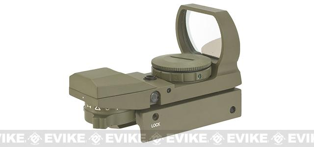 Evike Panorama Red/Green Dot with Warfare Reticles - Tan