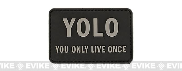 YOLO 'You Only Live Once' Tactical PVC Morale Patch - Black