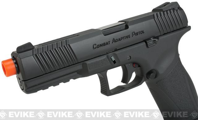 APS A-CAP Combat Adaptive Pistol CO2 Powered Airsoft Blowback Pistol - Black
