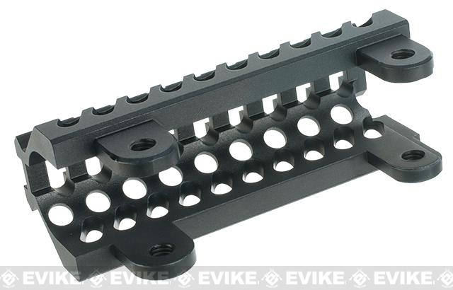 Zenimei CNC Aluminum AKS74U Tactical Railed Handguard Top for AK AEG / GBB Rifles - Black