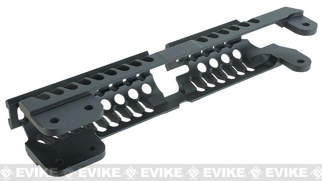 GHK Zenimei CNC Aluminum AK Tactical Railed Handguard Top for AK AEG / GBB Rifles - Black