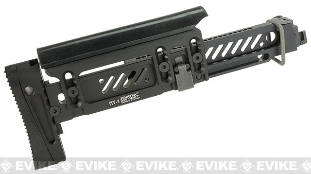 Zenimei CNC Aluminum Tactical Folding Stock for AK AEG / GBB Rifles - Black
