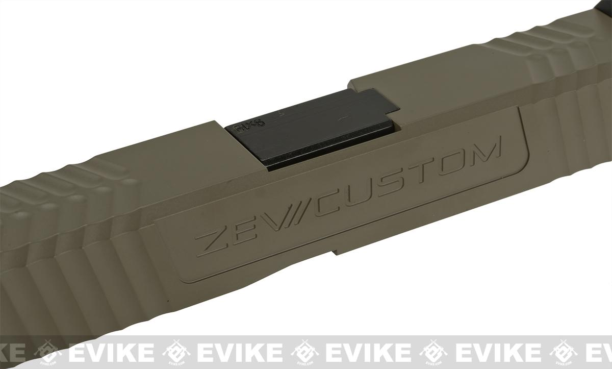 ZEV Trilobite Cut Custom Complete Slide Set with CNC Steel Outer Barrel by SOCOM Gear - Tan