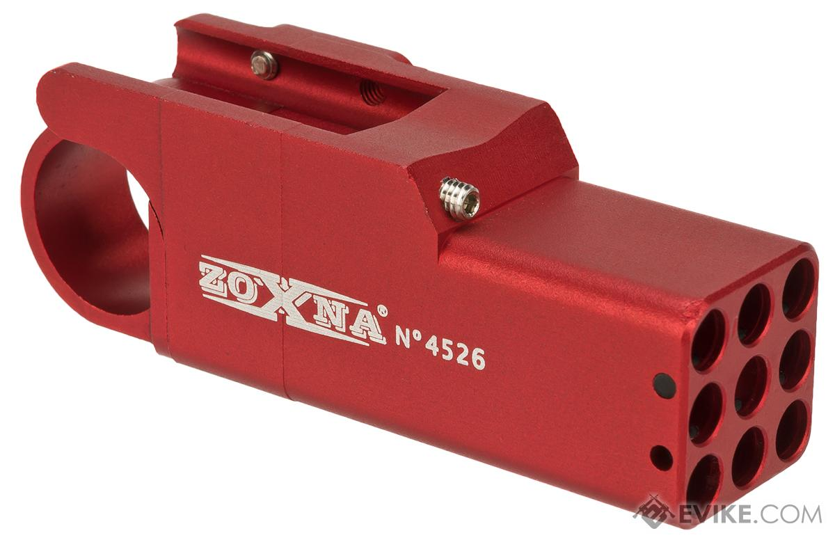 Zoxna CNC Machined Aluminum Compact 40BB Pistol Mounted Launcher (Color: Red)