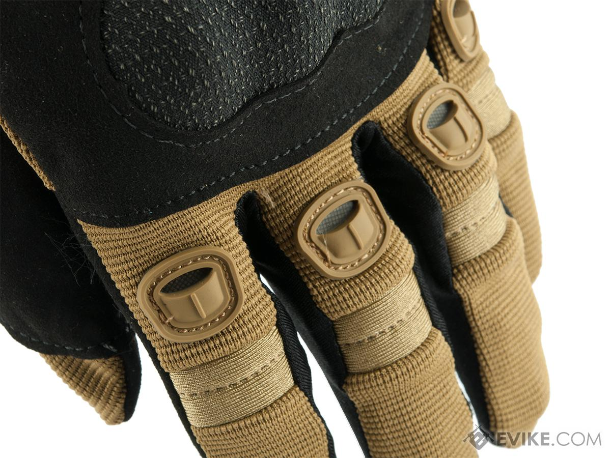 Evike.com Field Operator Full Finger Tactical Shooting Gloves - Tan (Size: Medium)